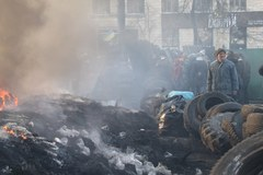 Barykady w Kijowie w obiektywie specjalnego wysłannika RMF FM