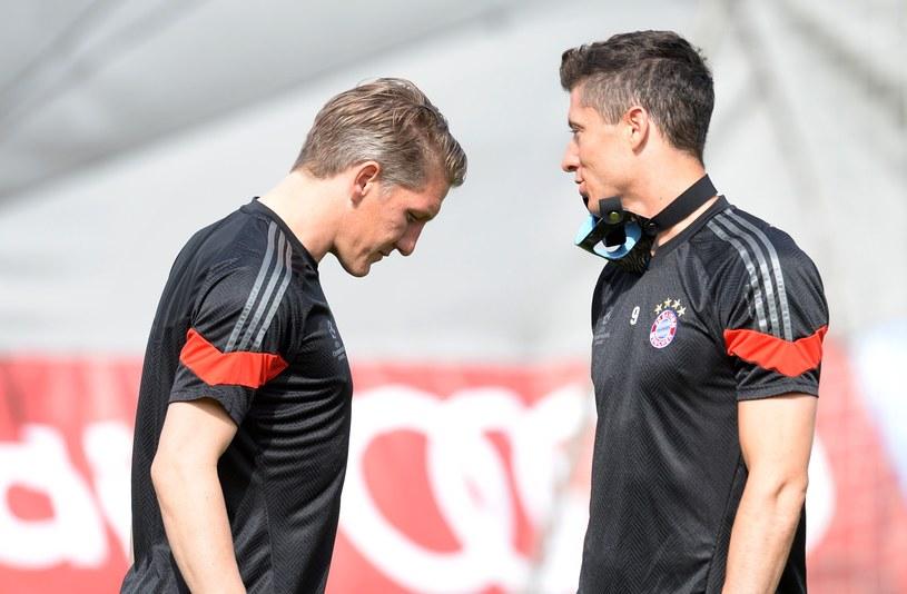 Bastian Schweinsteiger i Robert Lewandowski /AFP