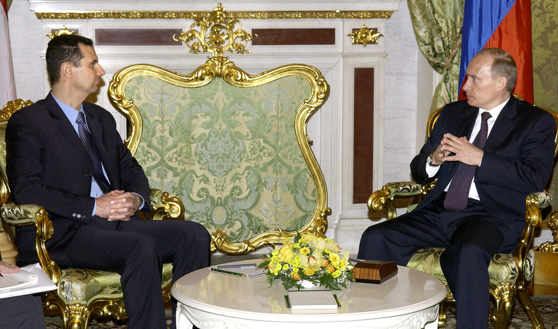 Baszar al-Asad i Władimir Putin /AFP