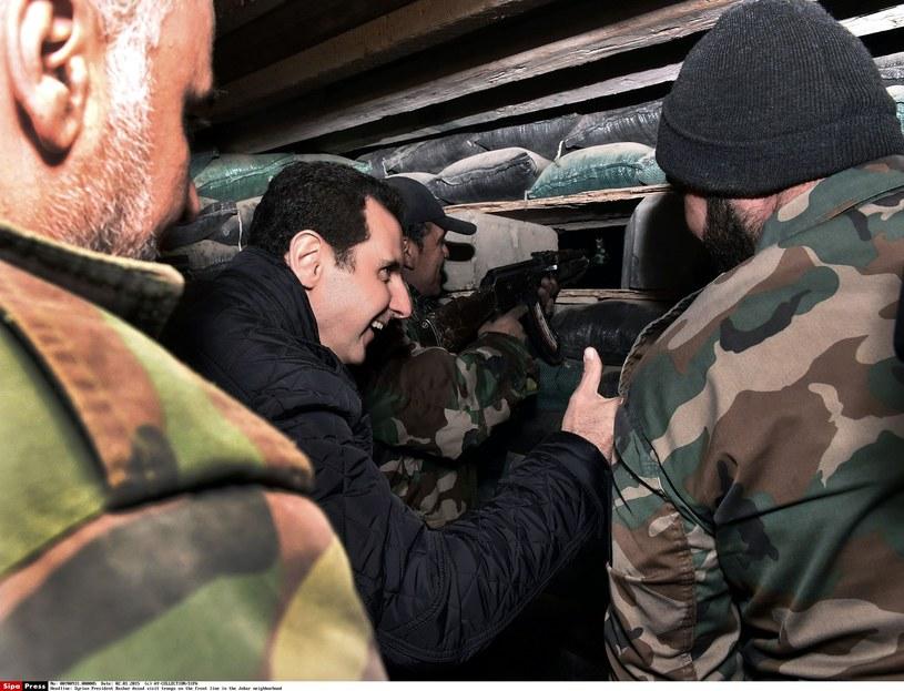 Baszar al-Asad na linii frontu w 2015 roku /East News