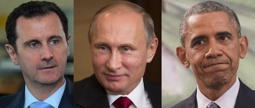 Baszar al-Asad, Władimir Putin, Barack Obama /AFP