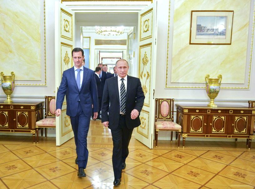 Baszar el-Asad spotkał się w Moskwie z Władimirem Putinem /ALEXEY DRUZHINYN /PAP/EPA