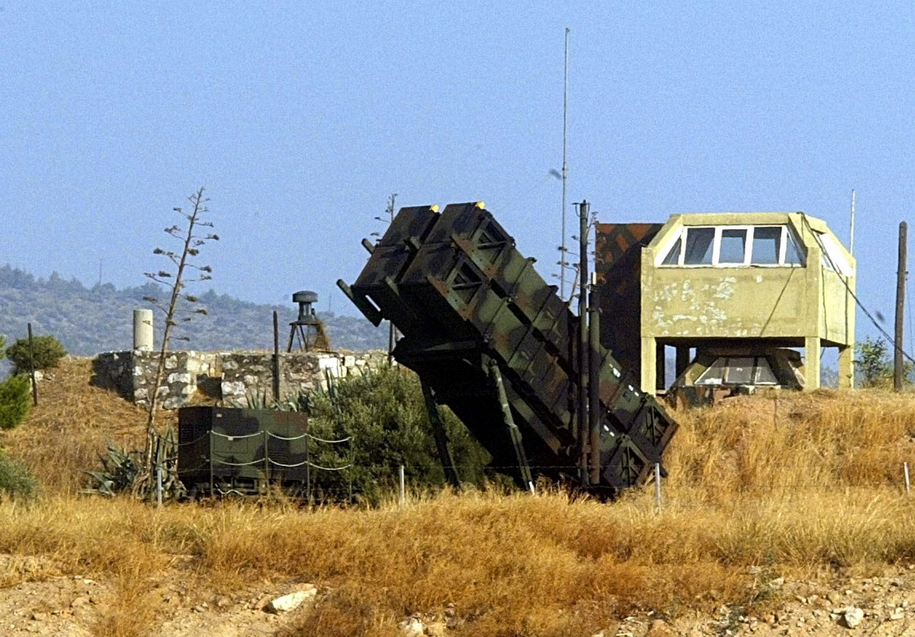 Bateria rakiet Patriot /LOUISA GOULIAMAKI /PAP/EPA