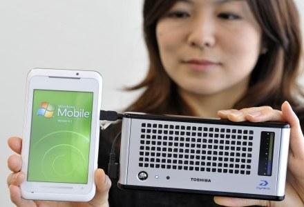 Bateria Toshiby ma wystarczyć do naładowania dwóch telefonów komórkowych /AFP