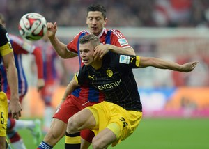 Bayern Monachium - Borussia Dortmund 2-1. Gol Lewandowskiego