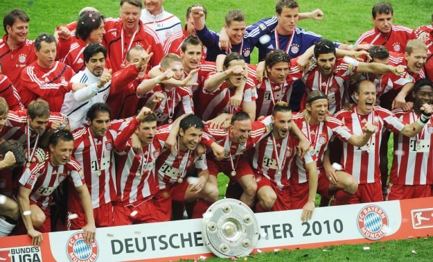 Bayern Monachium - mistrz Niemiec w sezonie 2009/10 /AFP