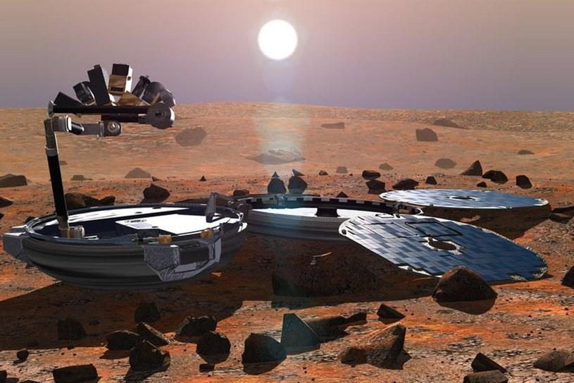 Beagle 2 na powierzchni Marsa – wizualizacja /materiały prasowe