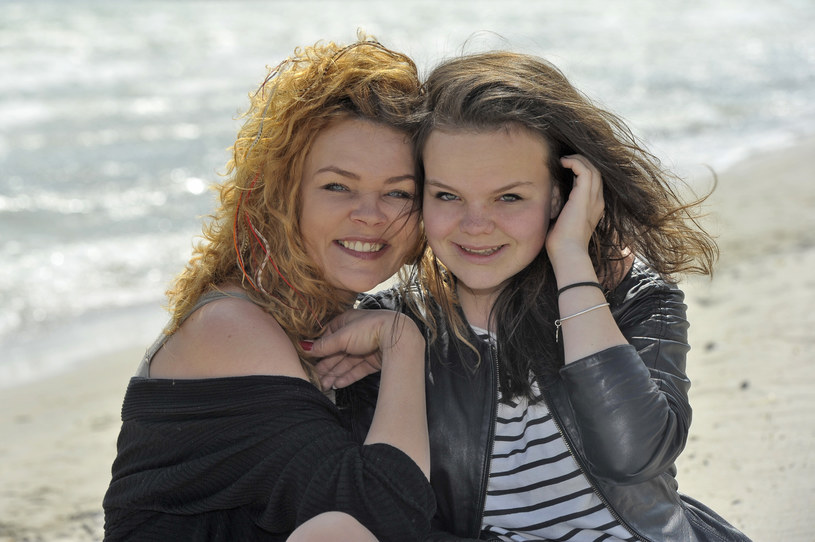 Beata Kawka z córką, 2012 rok /Kurnikowski /AKPA