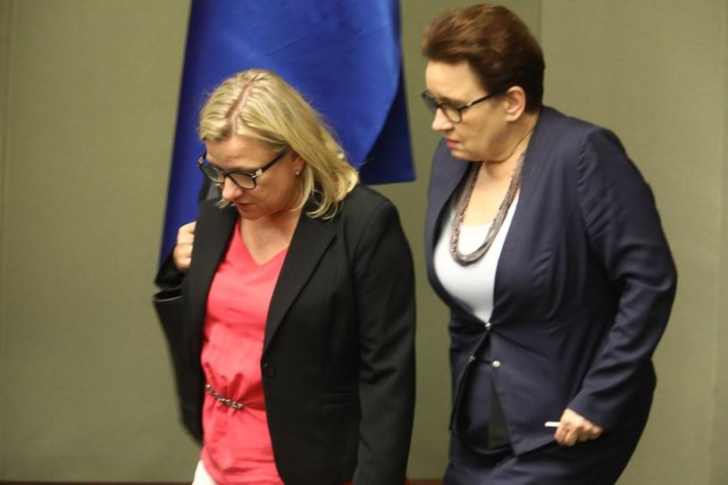 Beata Kempa i Anna Zalewska w Sejmie /Stanisław Kowalczyk /East News
