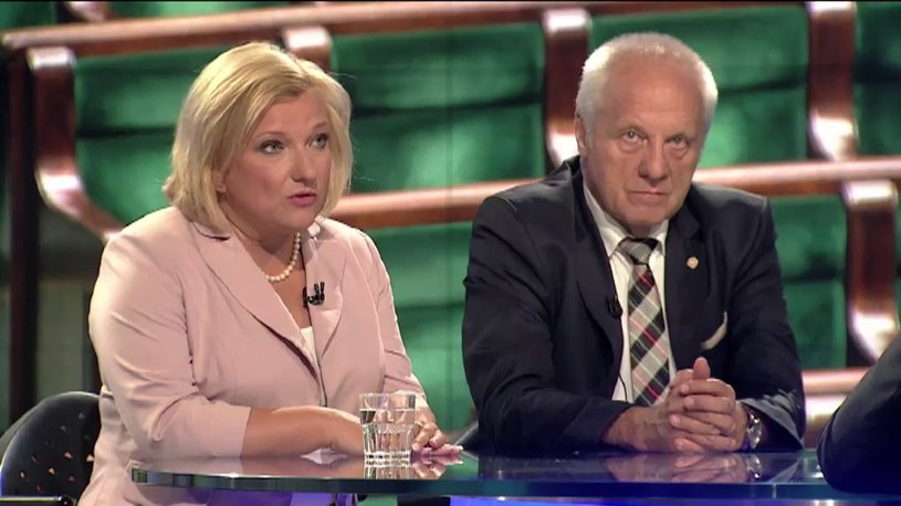 Beata Kempa i Stefan Niesiołowoski /TVN24/x-news
