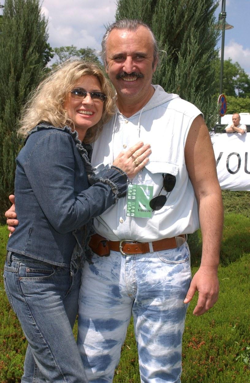 Beata Kozidrak i Andrzej Pietras w 2002 roku w Opolu /Krzysztof Wojda /Reporter