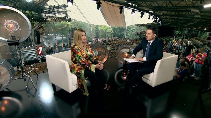 Beata Kozidrak i Piotr Witwicki /Polsat News /
