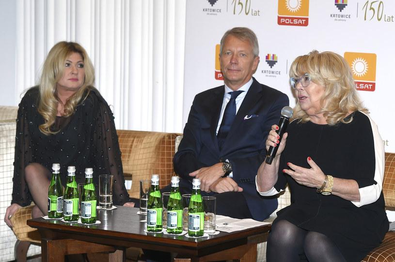 Beata Kozidrak, Nina Terentiew, Mirosław Błaszczyk /Kurnikowski /AKPA