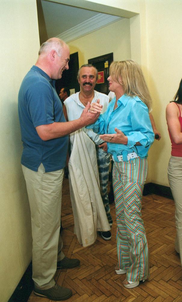 Beata Kozidrak z mężem Andrzejem i Ryszardem Rynkowskim /Niemiec /AKPA