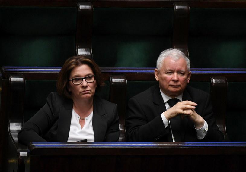 Beata Mazurek i Jarosław Kaczyński /Bartłomiej Zborowski /PAP