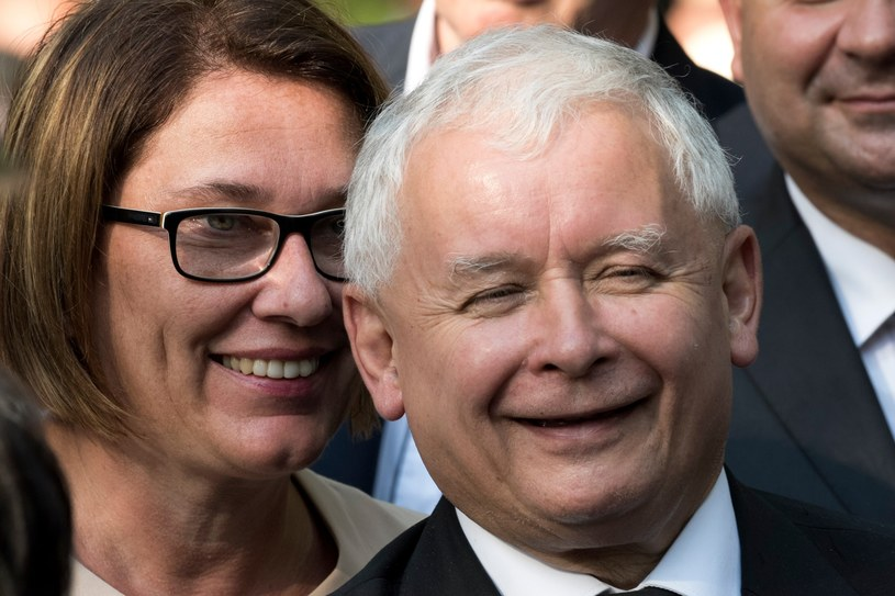 Beata Mazurek i Jarosław Kaczyński /Jacek Domiński /East News