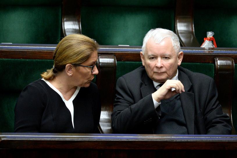 Beata Mazurek i Jarosław Kaczyński /Jan Bielecki /East News