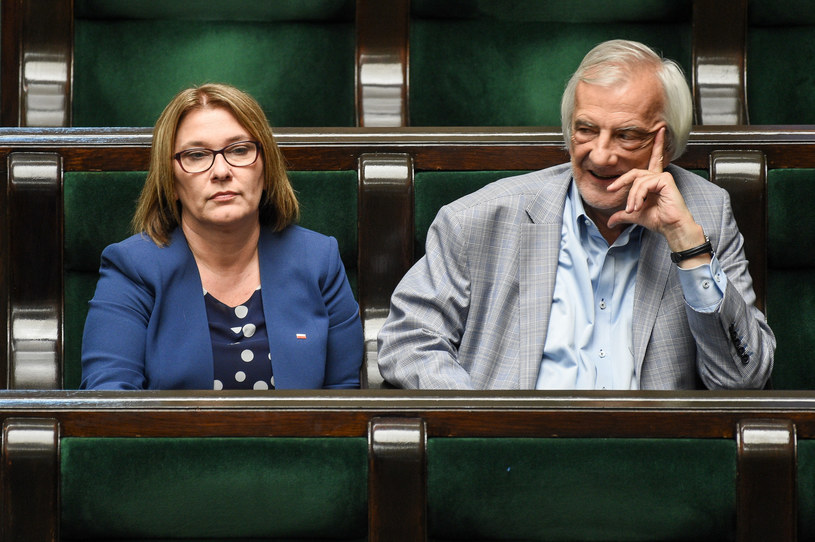 Beata Mazurek i Ryszard Terlecki /Jacek Domiński /Reporter
