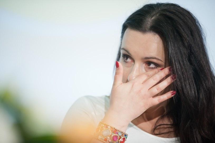 Beata nie potrafiła ukryć łez! /Szeląg /Reporter