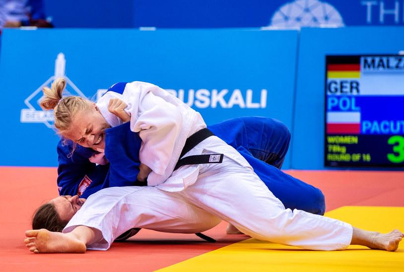 Beata Pacut (niebieski strój) /Getty Images