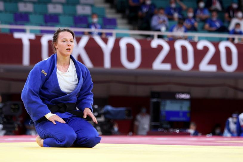 Beata Pacut po przegranym pojedynku 1/8 finału kategorii 78 kg turnieju judo z Shori Hamadą z Japonii, w hali Nippon Budokan / Leszek Szymański    /PAP
