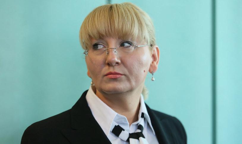 Beata Sawicka na sali rozpraw Sądu Apelacyjnego w Warszawie. /Leszek Szymański /PAP