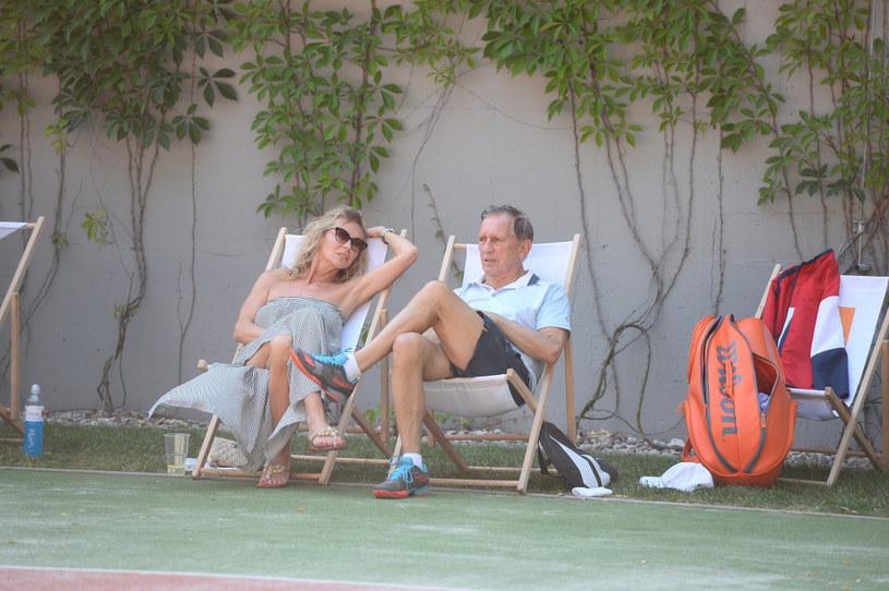 Beata Ścibakówna, Jan Englert. Mecz finałowy. Gentelmen's Tennis Cup 2018 /Jarosław Antoniak /MWMedia