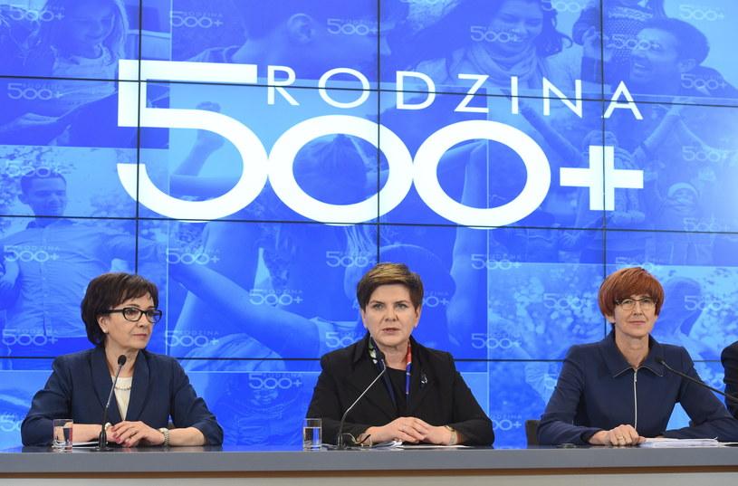 Beata Szydło, Elżbieta Witek i Elżbieta Rafalska /Radek  Pietruszka /PAP