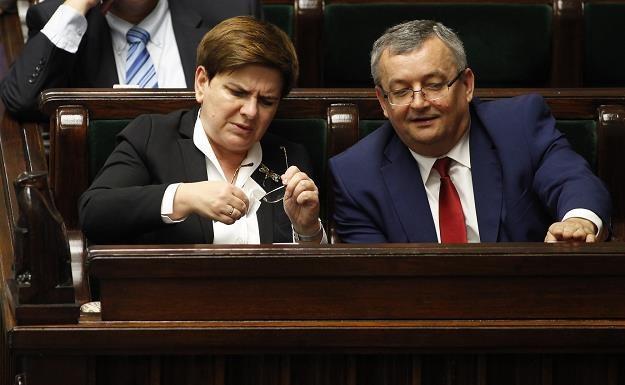 Beata Szydło i Andrzej Adamczyk. Fot. Stefan Maszewski /Reporter