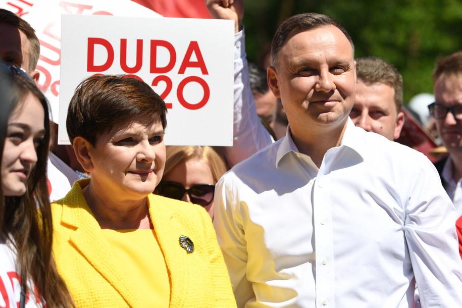 Beata Szydło i Andrzej Duda (zdj. arch.) /Darek Delmanowicz /PAP