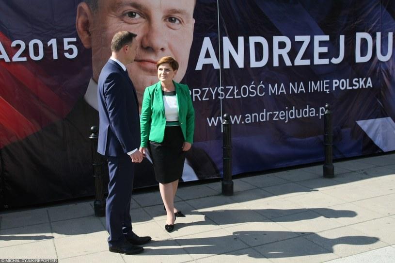 Beata Szydło i Andrzej Duda /Michał Dyjuk /Reporter