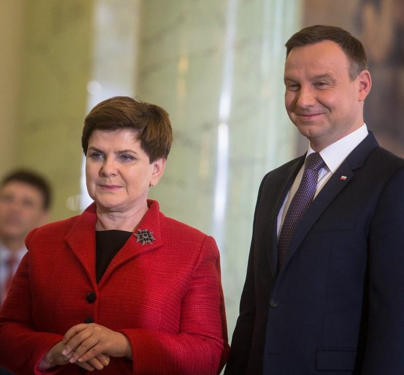 Beata Szydło i Andrzej Duda /ANDRZEJ LANGE / SE /East News