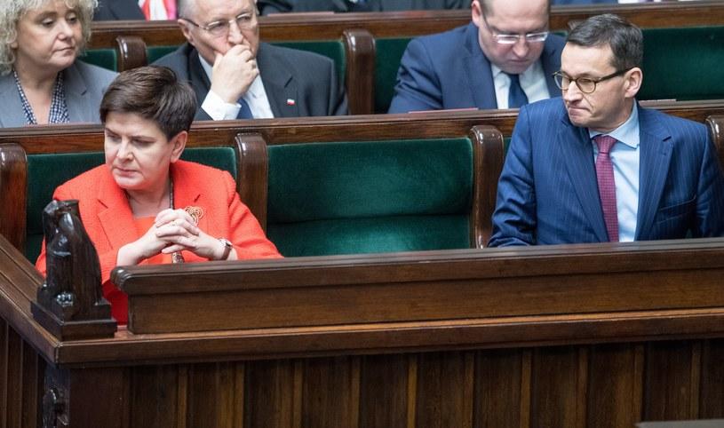 Beata Szydło i być może nowy premier - Mateusz Morawiecki /Andrzej Iwańczuk /Reporter