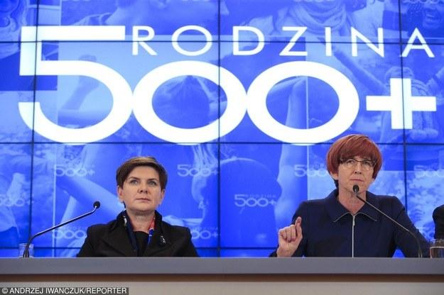 Beata Szydło i Elżbieta Rafalska /Andrzej Iwańczuk/Reporter