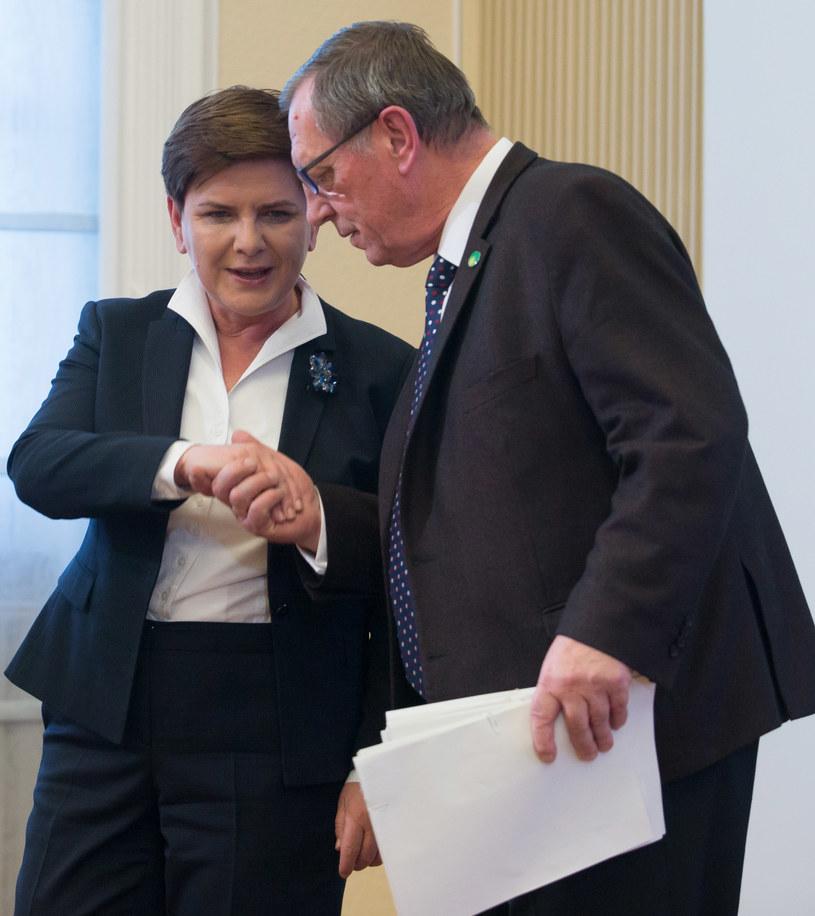 Beata Szydło i Jan Szyszko /Krystian Maj /Agencja FORUM
