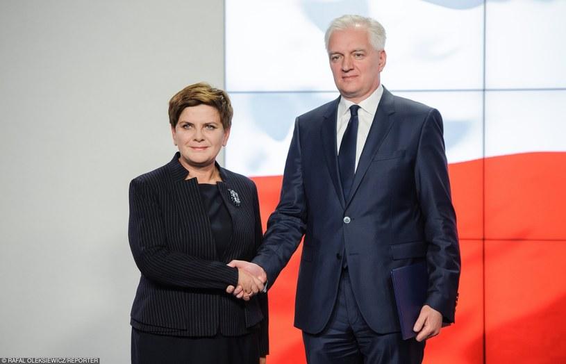 """Beata Szydło i Jarosław Gowin: """"Jarosław Kaczyński byłby kandydatem najbardziej naturalnym"""" /Rafał Oleksiewicz /Reporter"""