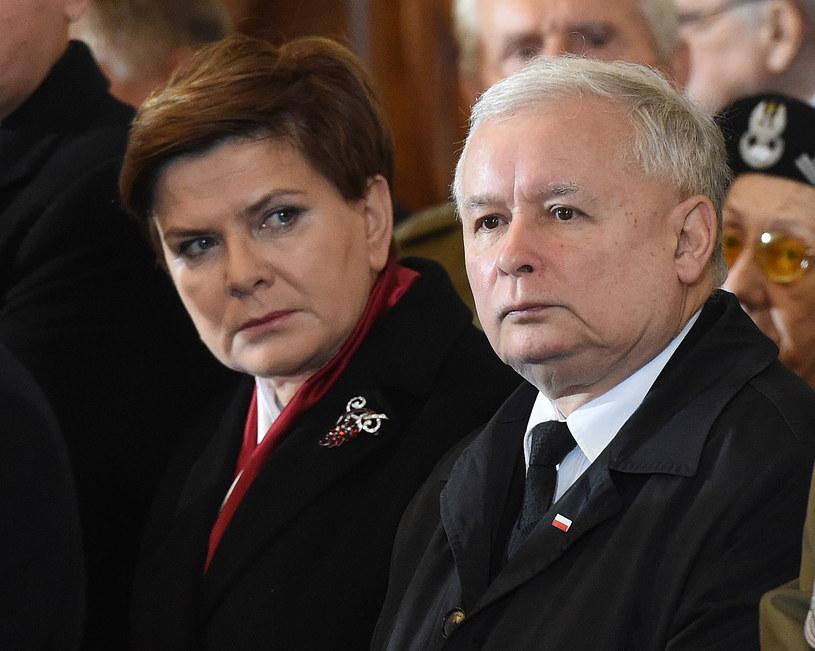 Beata Szydło i Jarosław Kaczyński /Radek Pietruszka /PAP