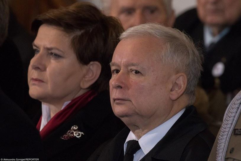 Beata Szydło i Jarosław Kaczyński /Aleksandra Szmigiel-Wisniewska/REPORTER /East News