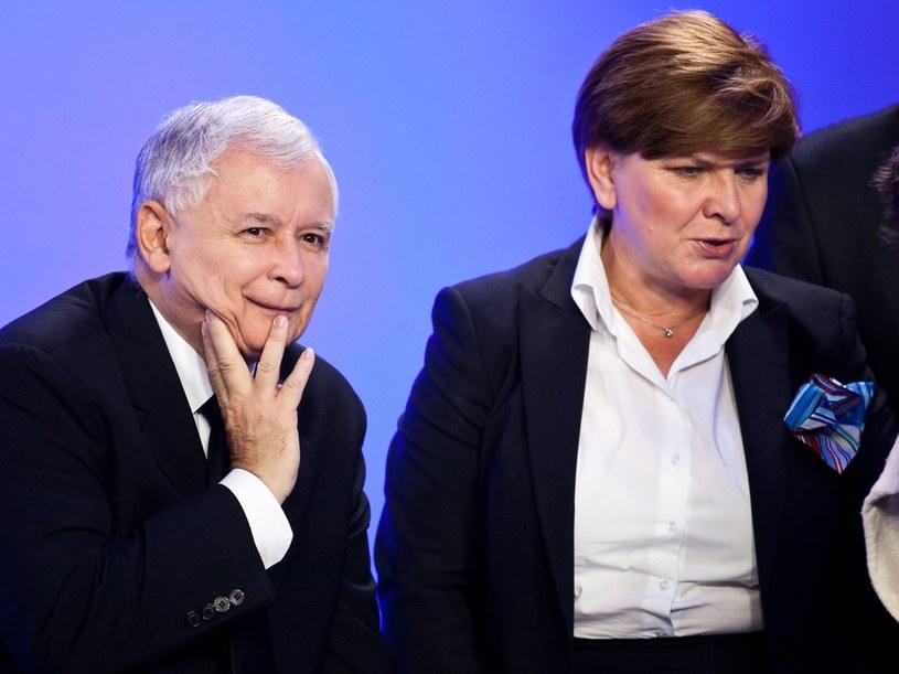 Beata Szydło i Jarosław Kaczyński /KAROL SEREWIS /East News
