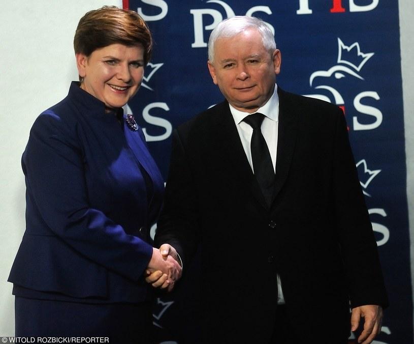 Beata Szydło i Jarosław Kaczyński /Witold Rozbicki /Reporter