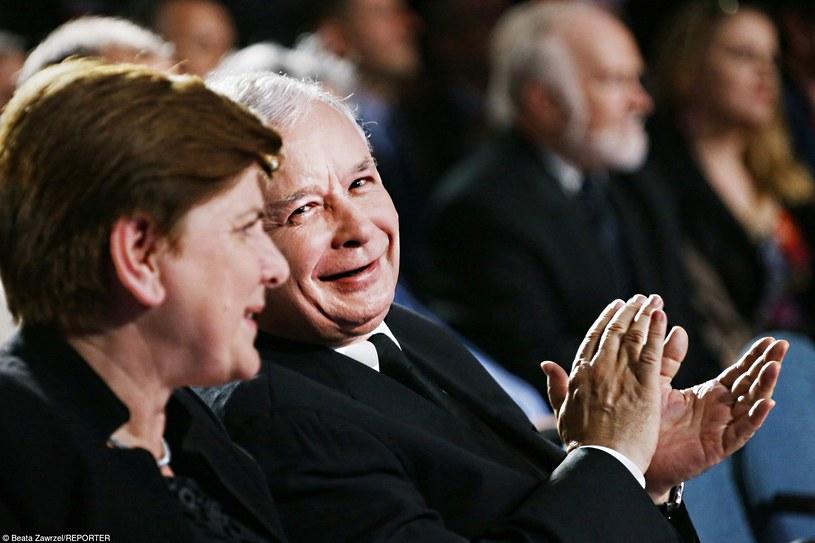 Beata Szydło i Jarosław Kaczyński /Beata Zawrzel /Reporter