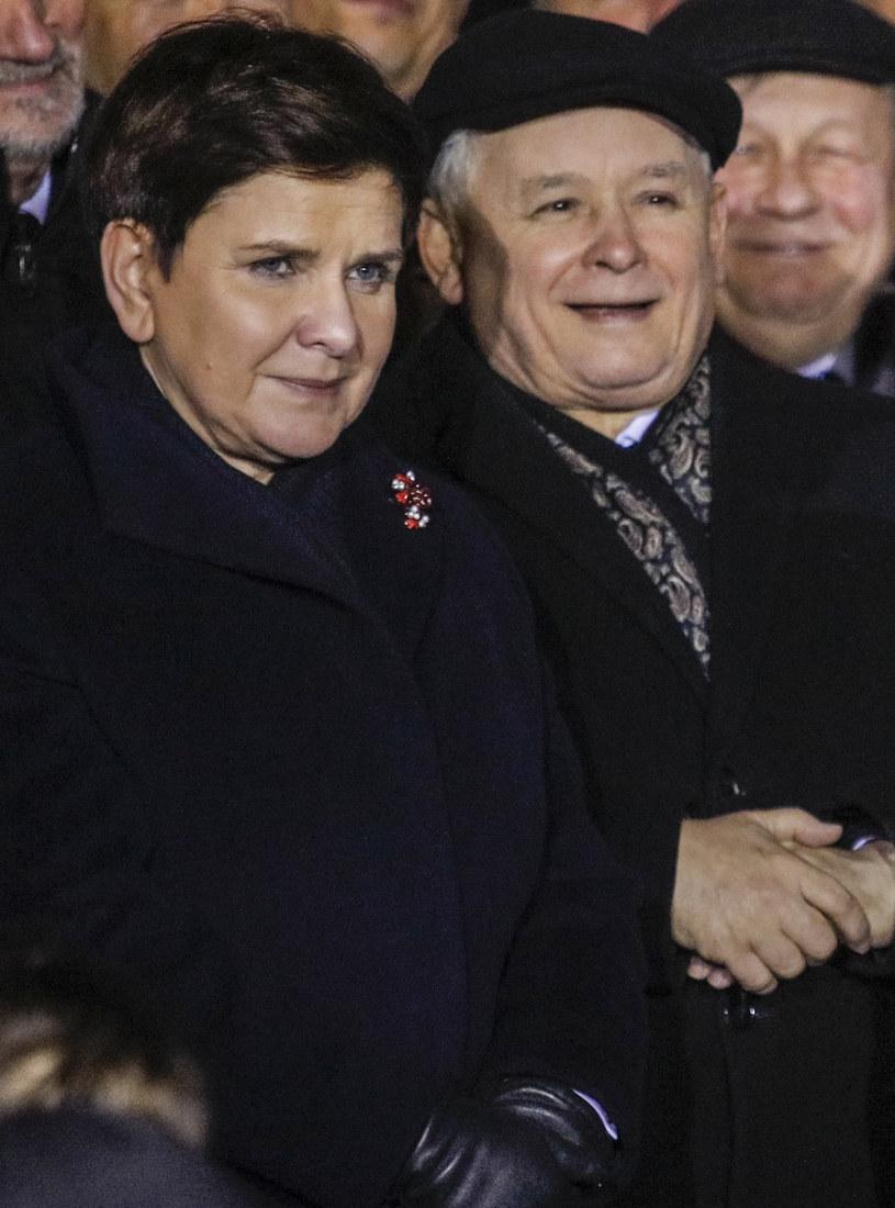 Beata Szydło i Jarosław Kaczyński /- /Agencja FORUM