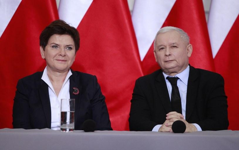Beata Szydło i Jarosław Kaczyński /Stefan Maszewski /Reporter