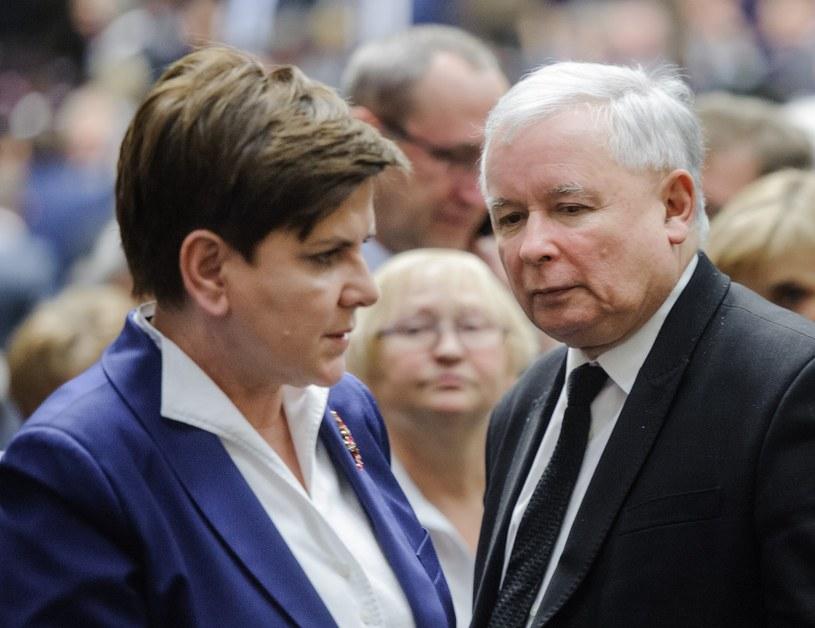 Beata Szydło i Jarosław Kaczyński /Fot. Rafal Oleksiewicz /Reporter