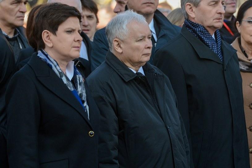 Beata Szydło i Jarosław Kaczyński /Mariusz Gaczyński /East News