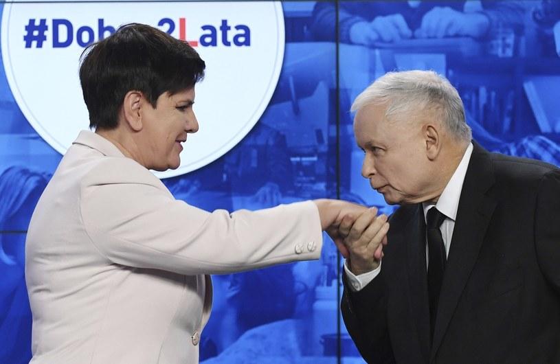 Beata Szydło i Jarosław Kaczyński /AP Photo/Alik Keplicz /East News