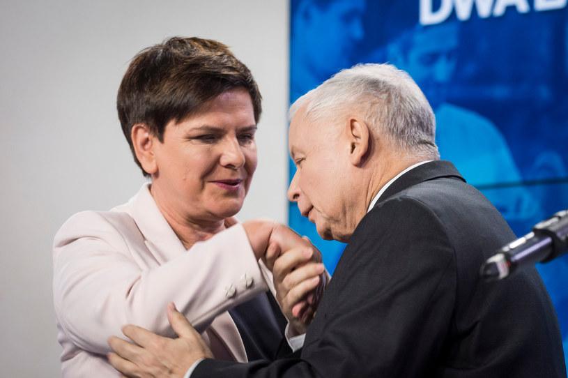 Beata Szydło i Jarosław Kaczyński /Fot. Jacek Domiński /Reporter