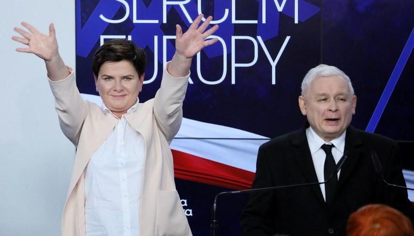 Beata Szydło i Jarosław Kaczyński /Piotr Molecki /East News