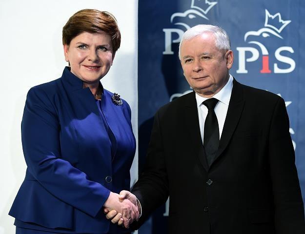 Beata Szydło i Jarosław Kaczyński /AFP