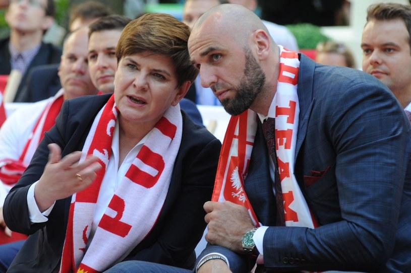Beata Szydło i Marcin Gortat /Daniel Gnap /East News